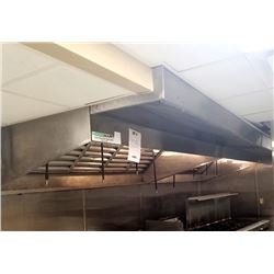 STAINLESS STEEL COMMERCIAL HOOD SYSTEM WITH FIRE SUPPRESSION AND VENTING