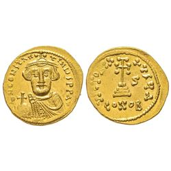 Constant II 641-668 Solidus, Costantinople, 641-668, AU 4.39 g. Ref : MIB 11, Sear 944  Conservation