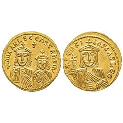 Theophilus 829-842 Solidus, Costantinople, 831-840, AU 4.40 g. Ref : Sear 1653, DOC 3  Conservation