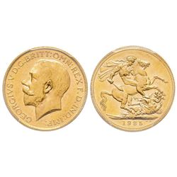 Australia, George V 1910-1936 Sovereign, Melbourne, 1925 M, AU 7.98 g. 917‰   Ref : Marsh 243, Fr. 3