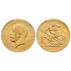 Australia, George V 1910-1936 Sovereign, Perth, 1929 P, AU 7.98 g. 917‰   Ref : Marsh 268, Fr. 40, K