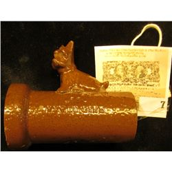 "Stoneware ""Scotty (Dog) Drain Pipe"" Advertising piece."