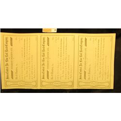 "(3) attached Mid to early 1800 ""Interest Certificate(s)  Iowa Central Air Line Rail Road Company"". U"