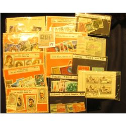 Various Packets of Foreign Stamps, which had a retail value of over $20 twenty years ago. Most are v