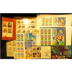 Walt Disney World Post card; Norman Rockwell Souvenir sheet with $2 face in Mint Stamps; Scott 1136