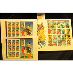 "(2) Souvenir sheet of Daffy Duck stamps ($6.60 face); & a ""DC Comics Super Hero"" Fleetwood Cover wit"