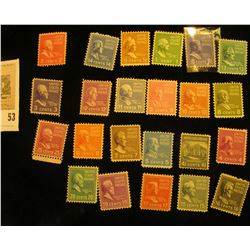 Set of Scott #803-31 Famous Americans Mint, some with light hinge. Missing only #803, 823, 826, 827,