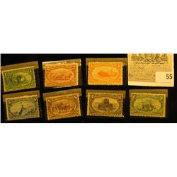 Trans-Mississippi Expo Set of Stamps Scott #285-291. 'Doc' had this set priced at $1275.00. One appe