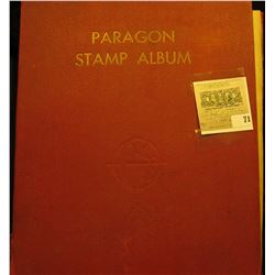 Paragon Stamp Album containing a large mixture of Foreign Stamps including Algeria, Antiqua, Argenti