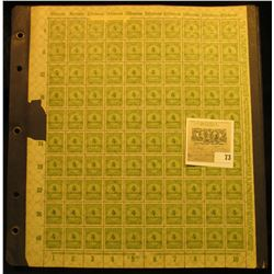 Mint Sheet Album and a Mint, unused Sheet of Four Million Mark Stamps from the Deutches Reich German
