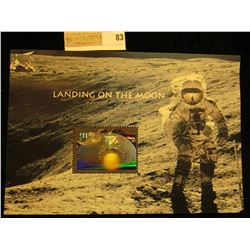 """Landing on the Moon"" $11.75 Mint, unused Hologram Stamp."