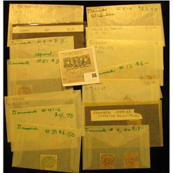 Groups of high value Foreign Stamps including: Danish West Indies II 5-6 & Scott # 34; Denmark Scott
