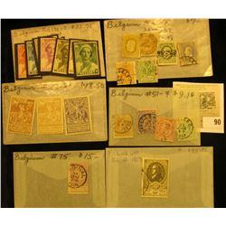 Group of higher value Belgium Stamps. All attributed and priced to sell at over $125.00.