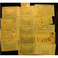 Group of higher value Stamps from Bolivia, Brazil, British Guiana, Bulgaria, British Guiana, & Bhuta