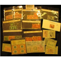 A nice group of attributed and priced U.S. Stamps, some Mint, others used. Doc valued this group at
