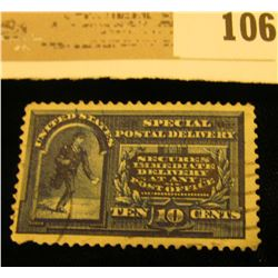 USA (Scott E-1) Ten Cent Special Delivery, centered, perfed edges. Cancelled. Please look at photos