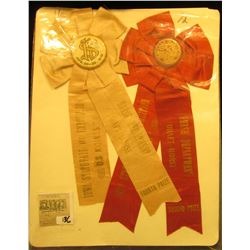"""(3) Different early 1900 """"Iowa State Fair"""" Equestrian related Award Ribbons."""