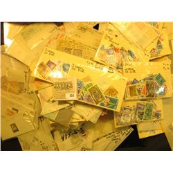 Group of mixed value U.S. & World Stamps.  All attributed and priced to sell at over $500.00.