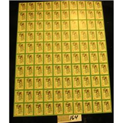 """Mint Sheet of 1931 """"Merry Christmas"""" Stamps/Seals. National Tuberculosis Association. (100 stamps)"""