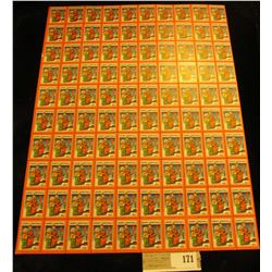 """Mint Sheet of 1932 """"Merry Christmas"""" Stamps/Seals. National Tuberculosis Association. (100 stamps)"""