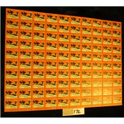 """Mint Sheet of 1933 """"Merry Christmas"""" Stamps/Seals. National Tuberculosis Association. (100 stamps)"""
