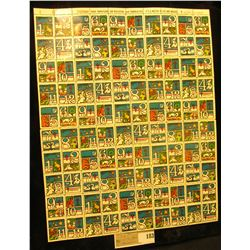 """Mint Sheet of 1975 """"Merry Christmas"""" Stamps/Seals. National Tuberculosis Association. (100 stamps)"""
