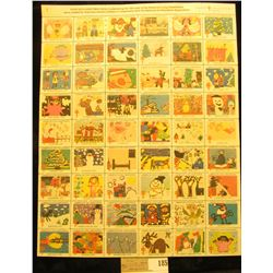 """Mint Sheet of 1979 """"Merry Christmas"""" Stamps/Seals. American Lung Association. (54 stamps)"""