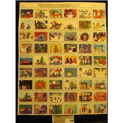 """Mint Sheet of 1980 """"Merry Christmas"""" Stamps/Seals. American Lung Association. (54 stamps)"""