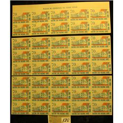 """Mint Sheet (split in two) of 1970 """"Merry Christmas"""" Stamps/Seals. American Lung Association. (54 sta"""