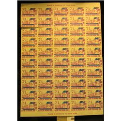 """Mint Sheet of 1971 """"Eastern Star Masonic Home Boone Iowa"""" Stamps. (50 stamps)."""