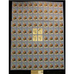 """Mint Sheet of 1946 """"Merry Christmas"""" Stamps/Seals. National Tuberculosis Association. (100 stamps)"""
