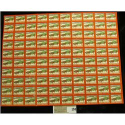 """Mint Sheet of 1947 """"Merry Christmas"""" Stamps/Seals. National Tuberculosis Association. (100 stamps)"""