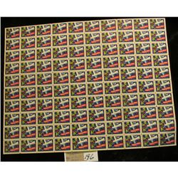 """Mint Sheet of 1949 """"Merry Christmas"""" Stamps/Seals. National Tuberculosis Association. (100 stamps)"""