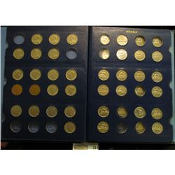 1927-2005 Partial Set of Canada Nickels in a blue Whitman album.