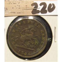 1854 Bank of Upper Canada One Penny.