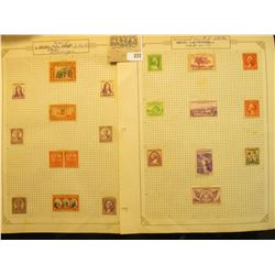 U.S.A. two pages of unused Old Stamps.