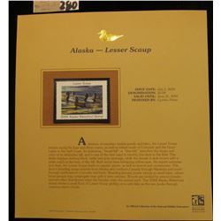 U.S.A. 2004 Alaska Waterfowl Stamp $5 depicting the Lesser Scaup. Mint condition in a special holder