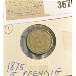 1875A Germany 5 Pfennig.