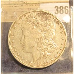 1894 O Morgan Silver Dollar.