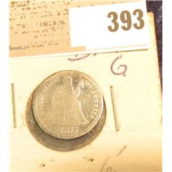 1875 U.S. Seated Liberty Dime.