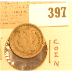 1865 U.S. Three Cent Nickel.