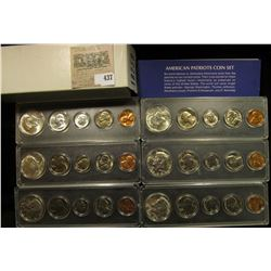 1964P, 65P, 66P, 67P, 68D, & 69D American Patriots Coin Sets Cents to Silver Half-Dollars in Snaptig