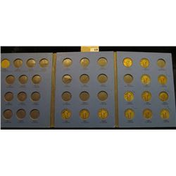 Partial Set of U.S. Standing Liberty Quarters in a blue Whitman Coin folder. 13 coins with dates and