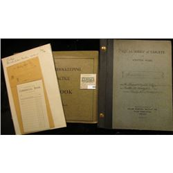 """""""Statement of Account"""" & """"Deposited With Commercial Bank""""  Pads,1890 era; """"Atlas Series of Tablets F"""