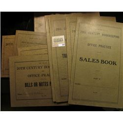 """(9) 1919 era ledgers """"For Use in 20th Century Bookkeeping and Office Practice"""", nice addition to the"""