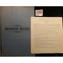 """1899 """"Invoice Book"""" for College Currency course with lots of invoices."""