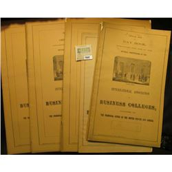 """(7) Banking Sets, Six Column Journal and Jobbing Book, & Small Set Day Book from """"International Asso"""