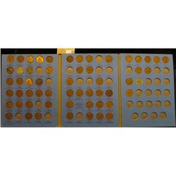 1941-68 Partial Set of Lincoln Cents in a Whitman folder. Includes one Canada Cent.