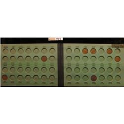 1913-48 Partial Set of Lincoln Cents in a Meghrig Album.