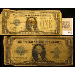 "Series 1928A One Dollar Silver Certificate; & Series 1923 One Dollar Silver Certificate ""Blanket"" No"